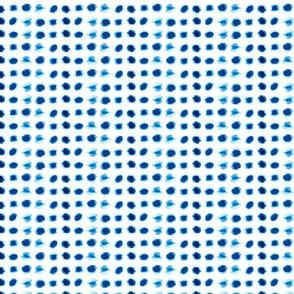Blue watercolor spots small