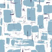 Abstract Painted Brushstrokes—Blue & White