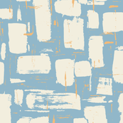 Abstract Painted Brushstrokes—Blue
