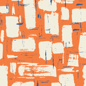 Abstract Painted Brushstrokes—Orange