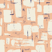 Abstract Painted Brushstrokes—Peach