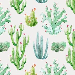 """6"""" Watercolor Desert Cactus // Sand Gray"""