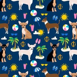 chihuahua summer beach dog breed fabric navy
