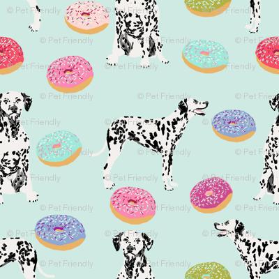 dalmatian donuts food dog breed fabric mint