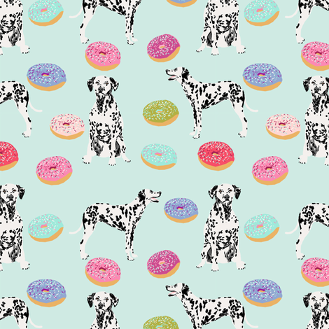 dalmatian donuts food dog breed fabric mint fabric by petfriendly on Spoonflower - custom fabric