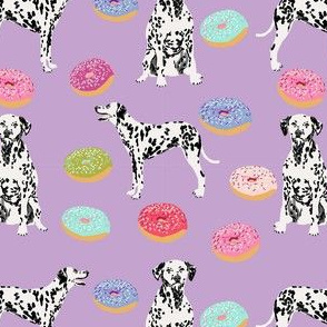 dalmatian donuts food dog breed fabric purple