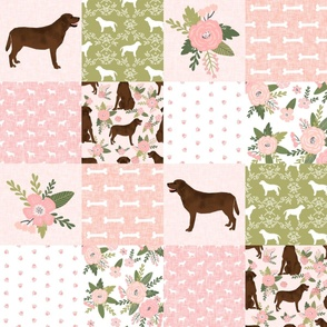 labrador retriever chocolate lab pet quilt d cheater quilt dog fabric