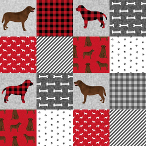 labrador retriever chocolate lab pet quilt a cheater quilt dog fabric
