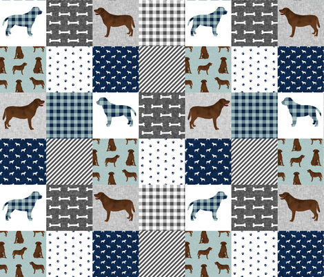 labrador retriever chocolate lab pet quilt b cheater quilt dog fabric  fabric by petfriendly on Spoonflower - custom fabric