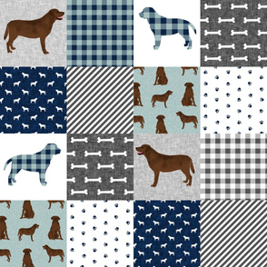 labrador retriever chocolate lab pet quilt b cheater quilt dog fabric