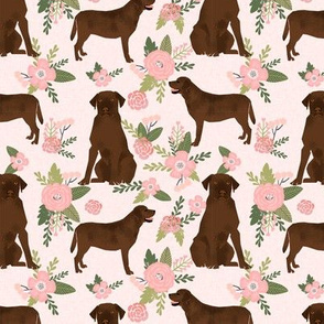 labrador retriever chocolate lab pet quilt d quilt floral coordinates dog fabric
