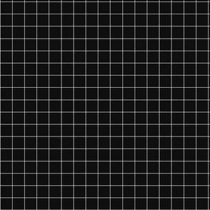 Black plaid fabric pattern.