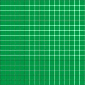 Green plaid fabric pattern.