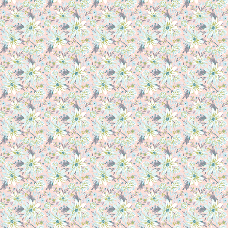 IBD EASTER DAISY A fabric by indybloomdesign on Spoonflower - custom fabric