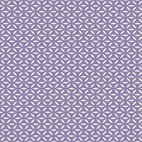 Leafpoint Lattice Vertical: Medium Violet Purple Latticework Railroaded