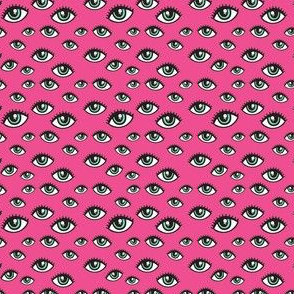 small pink eyes