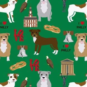 pitbull philadelphia fabric - pitbulls in philly design