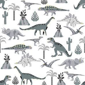 dino quilt coordinate  grey and white dinosaur nursery cheater quilt