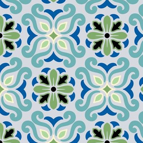 Geometric Zen Blue