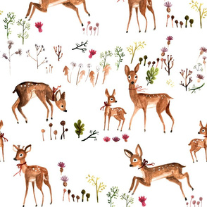Roe deer  on the meadow- large