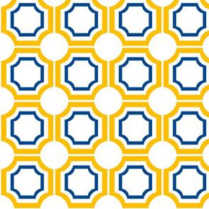Yellow White Blue Geometric