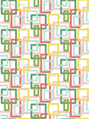 pastel square print