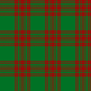 Menzies red and green tartan, 6""