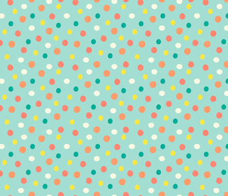 Little Dots (Rainbow) fabric by katherinelenius on Spoonflower - custom fabric
