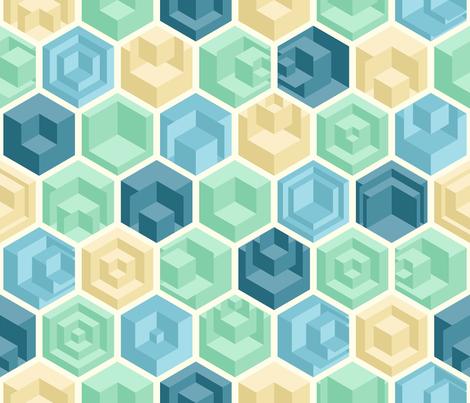 Cool Cubes fabric by artsytoocreations on Spoonflower - custom fabric