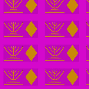 Argyle Menorah orchid and gold