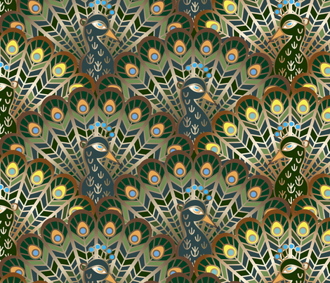 peacocks fabric by minyanna on Spoonflower - custom fabric