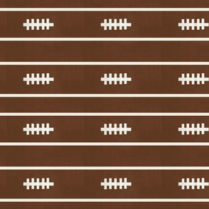 football brown  6 - strings and stripes