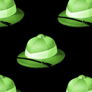 pith helmet green