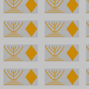Argyle Menorah silver and gold