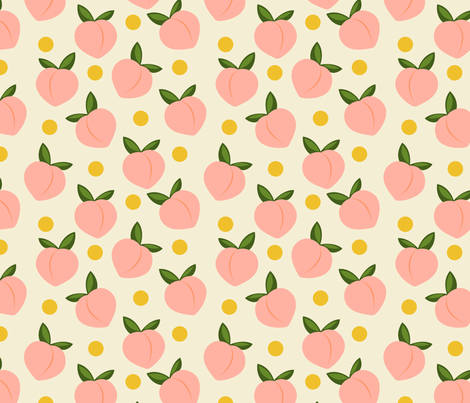 Peachy-Large Scale fabric by lapetitelecour on Spoonflower - custom fabric