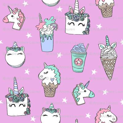 unicorn food // ice cream cone unicorns cake cute kawaii rainbows fabric pink