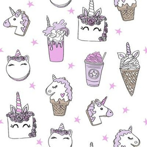 unicorn food // ice cream cone unicorns cake cute kawaii rainbows fabric white purple