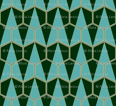 Art Deco Hexagon triangles