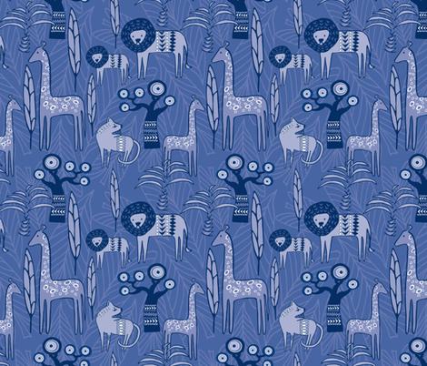 Savannah Blues fabric by lynnbishopdesign on Spoonflower - custom fabric