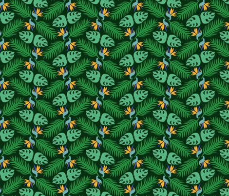 "Jungle Symmetry 6"" Repeat fabric by craftsturbator_ on Spoonflower - custom fabric"