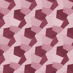 Geo mono red & pinks