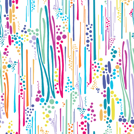 Rainbow Doodle & Dot fabric by christinemay on Spoonflower - custom fabric