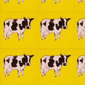 Yellow floating cow