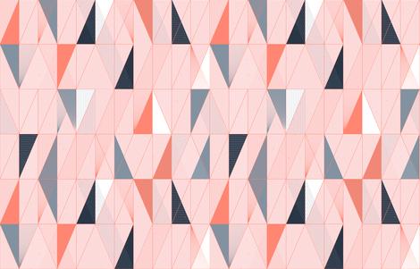 Miami Sunset Mod Deco Bits by Friztin fabric by friztin on Spoonflower - custom fabric