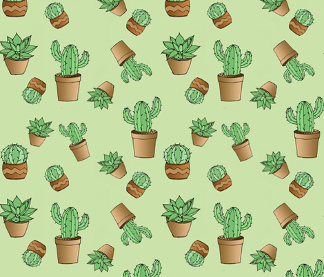 My Succulent Garden fabric by darlyssa on Spoonflower - custom fabric