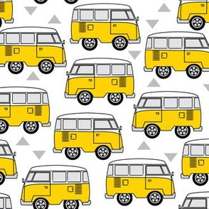 yellow camper vans side view