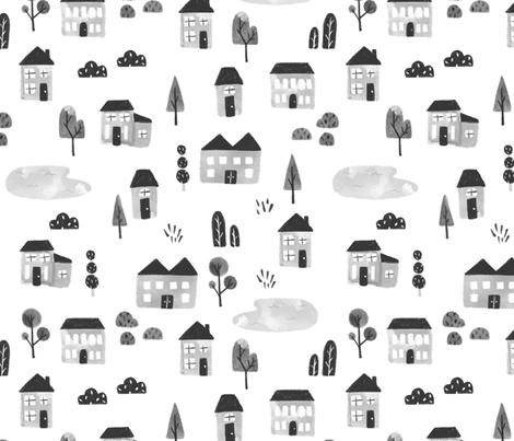 Little Village fabric by mabbene on Spoonflower - custom fabric