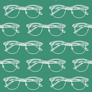Eye Glasses on Aquamarine // Large
