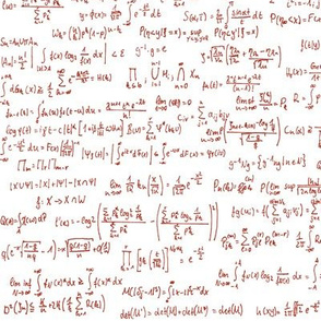 Math Notes in Red Ink // Small