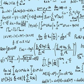 Math Notes on Blue // Large
